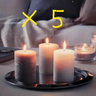 イケア(IKEA)のikea lugga アロマキャンドル 5本(アロマ/キャンドル)