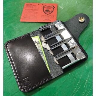 トチギレザー(栃木レザー)の栃木レザー スリム ウォレット型 コインホルダー 小銭入れ コインケース 財布(コインケース)