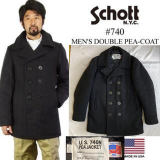 ショット(schott)のUSA製◆SCHOTT ショット◆740 ヘヴィメルトン ダブル ピーコート L(ピーコート)