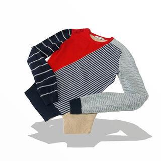 カルヴェン(CARVEN)の美品 CARVEN カルヴェン アンゴラ ウール アシンメトリー セーター(ニット/セーター)