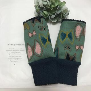 ミナペルホネン(mina perhonen)の⚮̈指なし手袋 ミナペルホネン⚮̈sky flower⚮̈ハンドウォーマー(手袋)