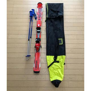 ヘッド(HEAD)のスキー板、ビンディング、ストック、ケースの4点セット(板)