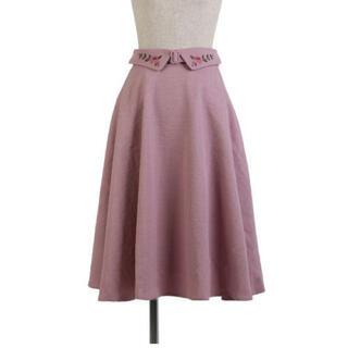 フィント(F i.n.t)のfint ウエストフラワー刺繍フレアースカート(ひざ丈スカート)