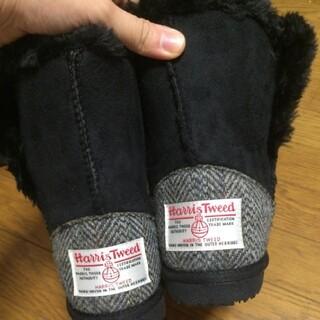 シマムラ(しまむら)のハリスツイード ムートンブーツ 24cm(ブーツ)