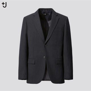UNIQLO - 【早い者勝ち】ウールブレンドジャケット(ストライプ) +J UNIQLO