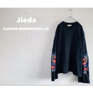 ジエダ(Jieda)の【値下げ可】ジエダ FLOWER EMBROIDERY L/S(Tシャツ/カットソー(七分/長袖))