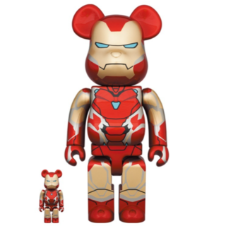 BE@RBRICK IRON MAN MARK 85 100% 400%(その他)