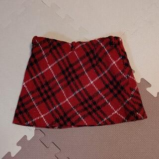 バーバリー(BURBERRY)のバーバリー 赤 タータンチェック スカート 100A(その他)