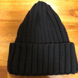 ビームスボーイ(BEAMS BOY)の美品!キッズニット帽 ブラック ビームスボーイ(帽子)