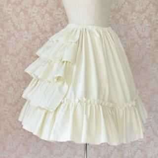 ヴィクトリアンメイデン(Victorian maiden)のVictorian maiden コットンアンダースカート(ひざ丈スカート)
