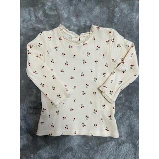 フタフタ(futafuta)の新品未使用❤️さくらんぼ柄ワッフルロンT(Tシャツ/カットソー)