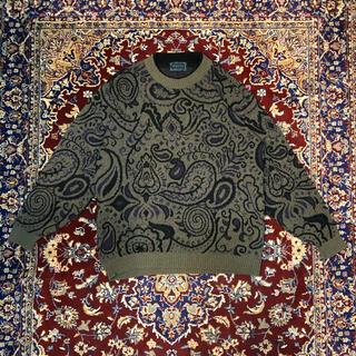 トーガ(TOGA)のITALY VINTAGE over-fit paisley knit(ニット/セーター)
