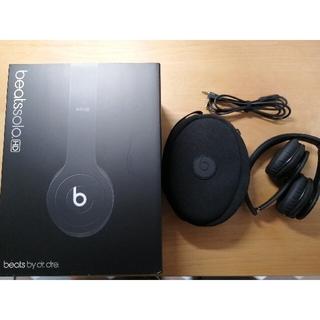 ビーツバイドクタードレ(Beats by Dr Dre)のBeats ヘッドフォン 黒 ビーツ(ヘッドフォン/イヤフォン)