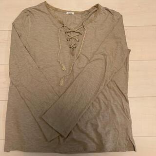 ファビアンルー(Fabiane Roux)のnowos Lace-up cutsew BEIGE/定価27,500円(税込)(カットソー(長袖/七分))