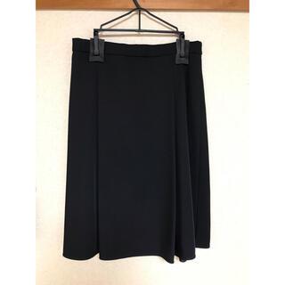 プラステ(PLST)のプラステ フレアスカート 黒(ひざ丈スカート)