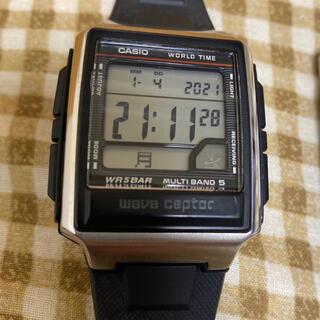 カシオ(CASIO)のCASIO 電波時計 wave ceptor WV-59J-1AJF(腕時計(デジタル))