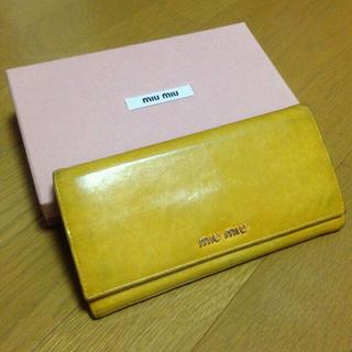 ミュウミュウ(miumiu)のmiu miu♡バイカラー長財布 美品(財布)