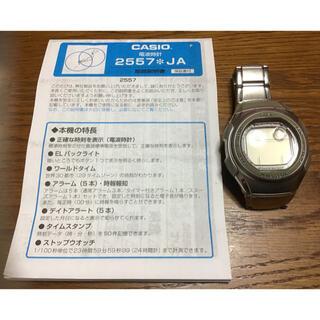 カシオ(CASIO)のカシオ 電波時計 2557  ウェブセプター ステンレス製 ※電池切れ(腕時計(デジタル))