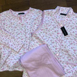 ローラアシュレイ(LAURA ASHLEY)のローラアシュレイ  ベスト付きパジャマ ピンク Lサイズ(パジャマ)