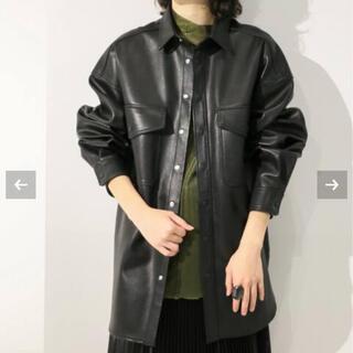 ユナイテッドアローズ(UNITED ARROWS)のCITYSHOP  faux leather jacket ブラック(ライダースジャケット)