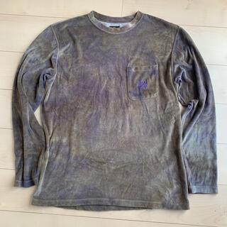 ニードルス(Needles)のニードルズ ベロアロングTシャツ Mサイズ(Tシャツ/カットソー(七分/長袖))