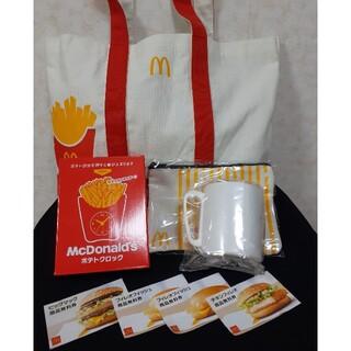 マクドナルド(マクドナルド)の大人気 新品!マクドナルド2021福袋 マック バッグ ポテトクロック(ノベルティグッズ)