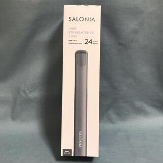 新品未使用  SLONIA ストレートヘアアイロン グレー 24mm(ヘアアイロン)