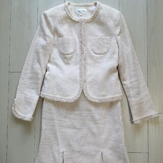 エニィファム(anyFAM)のanyFAMのツイードスーツセット 2☆Mフォーマルピンク(スーツ)