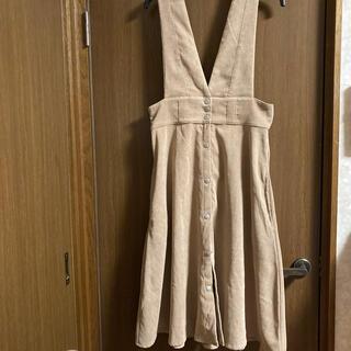 シマムラ(しまむら)のベージュ☆ジャンパースカート(ひざ丈スカート)