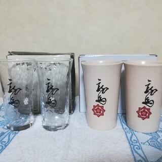 トウヨウササキガラス(東洋佐々木ガラス)の坂本龍馬サイン入り ペアグラス 陶器タンブラー(グラス/カップ)