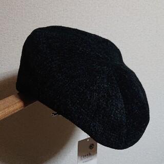 アースミュージックアンドエコロジー(earth music & ecology)の新品 アースミュージック&エコロジー モールヤーンベレー ブラック(ハンチング/ベレー帽)