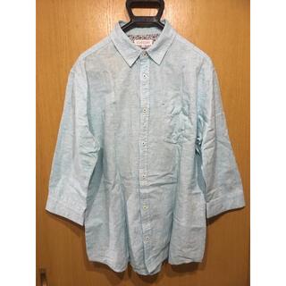 シマムラ(しまむら)のフレンチリネン混 七分丈 メンズシャツ(シャツ)