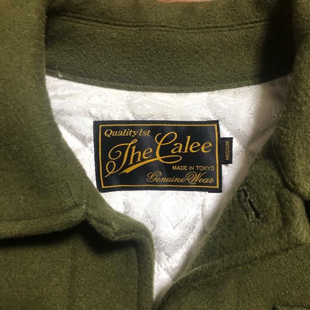 CALEE(キャリー)のCALEE スーベニアメルトンウールジャケット Mサイズ メンズのジャケット/アウター(ミリタリージャケット)の商品写真