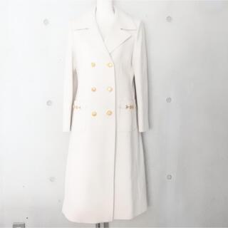 グッチ(Gucci)のグッチ 19AW 定価434500円 ダブル ウール コート 40 クリーム(ロングコート)