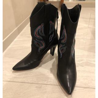 インディビジュアル(INDIVIDUAL)の美品INDIVIDUAL インディビジュアルウエスタンブーツ靴(ブーツ)