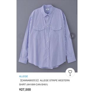 アレッジ(ALLEGE)のALLEGE STRIPE WESTERN SHIRT (CANNABIS別注)(シャツ)