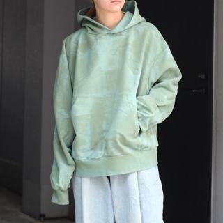 アンユーズド(UNUSED)のttt msw paint hoodie(パーカー)