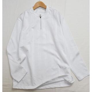 Y's - Y's for men ワイズフォーメン シャドウストライプ長袖Tシャツ 白