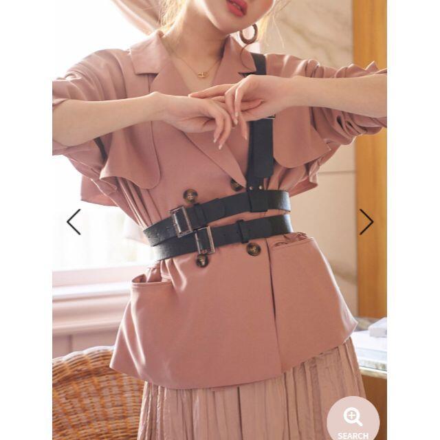 eimy istoire(エイミーイストワール)の[完売品・タグ付き] darich ワンショルダブルベルト レディースのファッション小物(ベルト)の商品写真