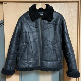 シュプリーム(Supreme)のm supreme patchwork shearling b-3jacket(レザージャケット)