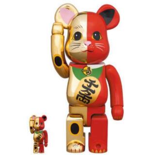 メディコムトイ(MEDICOM TOY)の【2体】 BE@RBRICK 招き猫 100%&400%  金×赤(その他)
