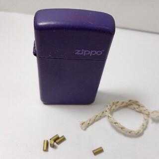 ジッポー(ZIPPO)のzippo ジッポーライター スリム パープル 豪華特典付き!(タバコグッズ)