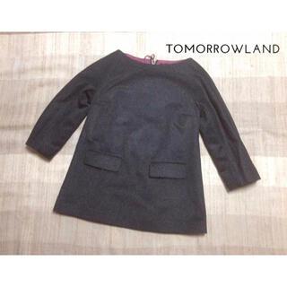 トゥモローランド(TOMORROWLAND)の新品 トゥモローランド プルオーバー チュニック ウール ビーバー生地 38(チュニック)