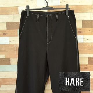 ハレ(HARE)の【HARE】 美品 ハレ ブラックパンツ ポリエステル65% サイズM(ワークパンツ/カーゴパンツ)
