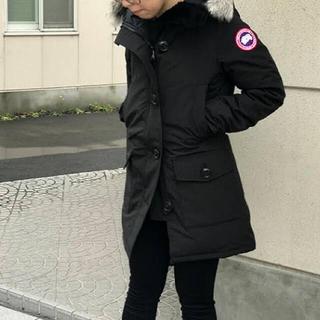 カナダグース(CANADA GOOSE)の美品 Sサイズ ブラック CANADA GOOSE カナダグースブロンテ(ダウンジャケット)