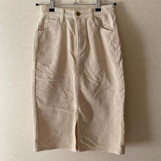 イーハイフンワールドギャラリー(E hyphen world gallery)のLee コーデュロイスカート(ひざ丈スカート)