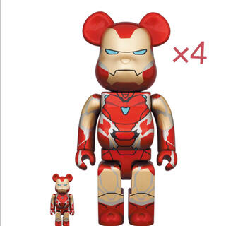 【4体】BE@RBRICK IRON MAN MARK 85 100%&400%(その他)