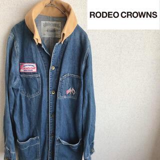 ロデオクラウンズ(RODEO CROWNS)のRODEO CROWNS デニム カバーオール ブルゾン コート ジャケット(Gジャン/デニムジャケット)