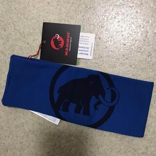 マムート(Mammut)の新品 ヘッドバンド マスクとしても 暖かみのある素材 MAMMUT ブルー(登山用品)