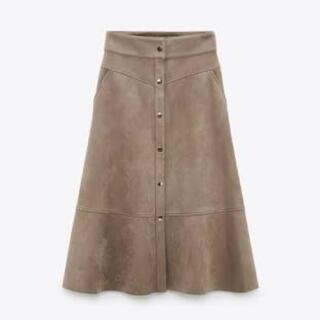 ザラ(ZARA)のZARA フェイクスウェードスカート(ロングスカート)